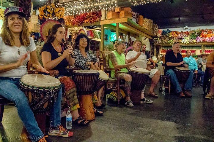 First friday drum circle jam at lattitudes space coast event calendar for Golf galaxy palm beach gardens