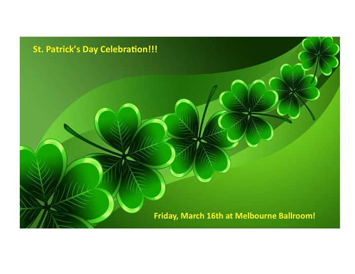 St patrick 39 s friday celebration space coast event calendar for St patrick s church palm beach gardens